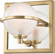 Hudson Valley 6441-AGB Axiom Contemporary Aged Brass LED Lighting Sconce