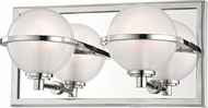 Hudson Valley 6442-PN Axiom Modern Polished Nickel LED 2-Light Bathroom Light Sconce