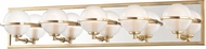 Hudson Valley 6445-AGB Axiom Contemporary Aged Brass LED 5-Light Bathroom Lighting