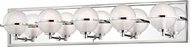 Hudson Valley 6445-PN Axiom Modern Polished Nickel LED 5-Light Lighting For Bathroom
