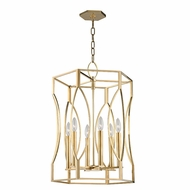 Hudson Valley 6517-AGB Roswell Aged Brass Foyer Lighting Fixture