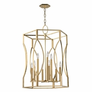 Hudson Valley 6523-AGB Roswell Aged Brass Foyer Light Fixture