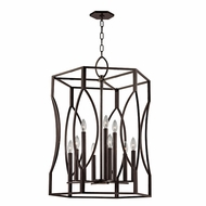 Hudson Valley 6523-OB Roswell Old Bronze Foyer Lighting Fixture