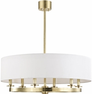 Hudson Valley 6530-AGB Durham Modern Aged Brass 30.5  Drum Pendant Lamp