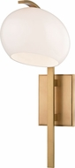 Hudson Valley 6600-AGB Perrault Contemporary Aged Brass Xenon Wall Sconce Lighting