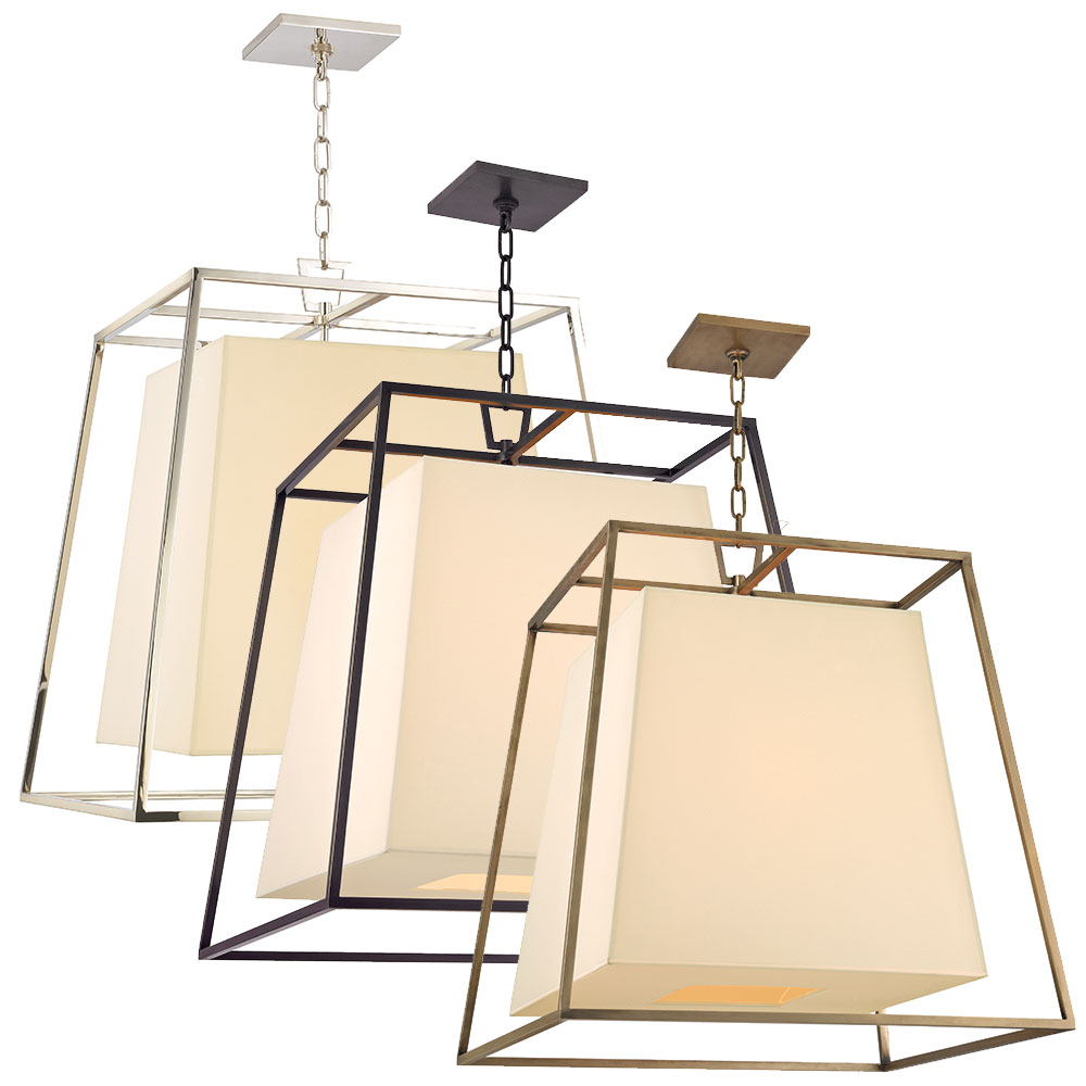 """Hudson Valley Lighting Kyle: Hudson Valley 6924 Kyle Transitional 24""""x24""""x26"""" Ceiling"""
