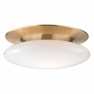 Hudson Valley 7018-SB Irvington Modern Satin Brass LED Ceiling Light Fixture