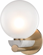 Hudson Valley 7100-AGB Boone Contemporary Aged Brass LED Lighting Wall Sconce