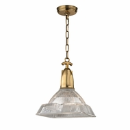 Hudson Valley 7111-AGB Langdon Contemporary Aged Brass Pendant Hanging Light