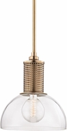 Hudson Valley 7214-AGB Halcyon Contemporary Aged Brass Lighting Pendant