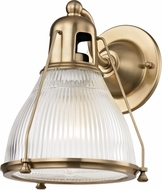 Hudson Valley 7301-AGB Haverhill Contemporary Aged Brass Wall Sconce Lighting