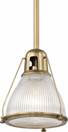 Hudson Valley 7308-AGB Haverhill Modern Aged Brass Mini Pendant Hanging Light