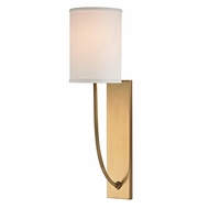 Hudson Valley 731-AGB Colton Aged Brass Finish 4.5  Wide Wall Sconce