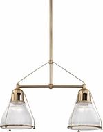 Hudson Valley 7312-AGB Haverhill Modern Aged Brass Kitchen Island Light Fixture