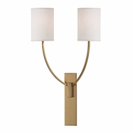 Hudson Valley 732-AGB Colton Aged Brass Finish 24.5  Tall Sconce Lighting