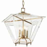Hudson Valley 7419-AGB Andover Aged Brass Finish 19  Wide Lighting Pendant