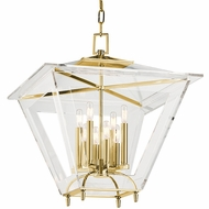 Hudson Valley 7424-AGB Andover Aged Brass Finish 24  Wide Hanging Lamp
