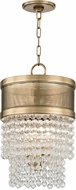 Hudson Valley 7704-AGB Harrison Contemporary Aged Brass 12.25  Foyer Lighting Fixture