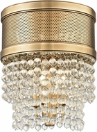 Hudson Valley 7704F-AGB Harrison Modern Aged Brass Flush Mount Light Fixture