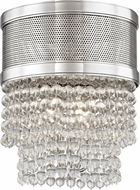 Hudson Valley 7704F-PN Harrison Contemporary Polished Nickel Flush Mount Lighting Fixture