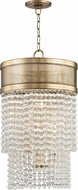 Hudson Valley 7716-AGB Harrison Contemporary Aged Brass 16  Foyer Lighting
