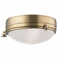 Hudson Valley 8013-AGB Belmont Aged Brass Finish 13 Wide Home Ceiling Lighting