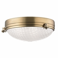 Hudson Valley 8017-AGB Belmont Aged Brass Finish 17 Wide Ceiling Light