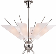Hudson Valley 8066-PN Cooper Contemporary Polished Nickel LED Hanging Chandelier