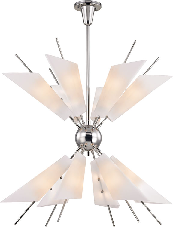 Hudson valley 8069 pn cooper contemporary polished nickel led chandelier lighting loading zoom