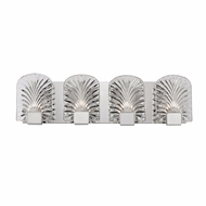 Hudson Valley 8104-PN Marcy Contemporary Polished Nickel Xenon 4-Light Bathroom Sconce