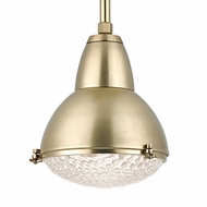 Hudson Valley 8113-AGB Belmont Aged Brass Finish 15.25  Wide Pendant Hanging Light