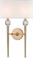 Hudson Valley 8422-AGB Rockland Aged Brass Wall Sconce