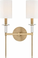 Hudson Valley 8512-AGB Amherst Aged Brass Wall Lighting