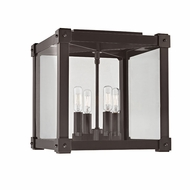 Hudson Valley 8600-OB Forsyth Contemporary Old Bronze Flush Mount Lighting