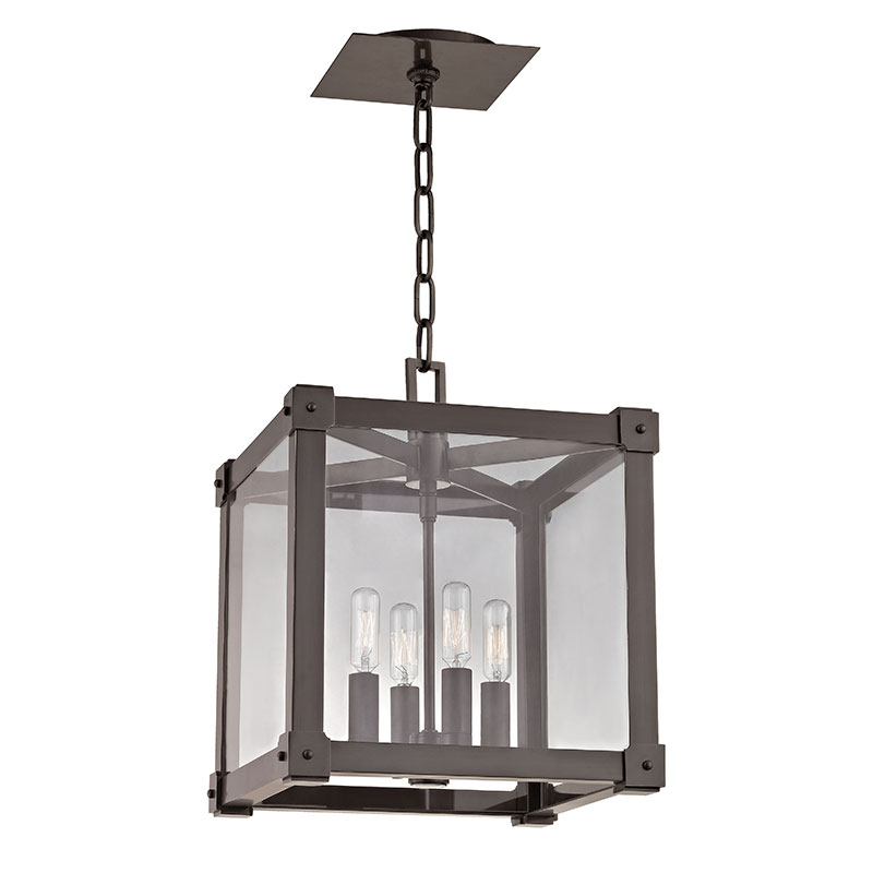 Contemporary Foyer Lighting Fixtures : Hudson valley ob forsyth modern old bronze quot wide