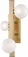 Hudson Valley 8703-AGB Mini Hinsdale Contemporary Aged Brass LED Sconce Lighting