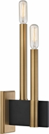 Hudson Valley 8812-AGB Abrams Contemporary Aged Brass Wall Light Fixture