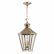 Hudson Valley 8813-AGB Barstow Aged Brass 13  Wide Foyer Light Fixture