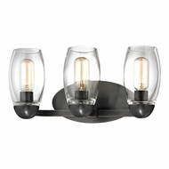 Hudson Valley 8843-OB Pamelia Old Bronze Finish 8.5  Tall 3-Light Bathroom Lighting