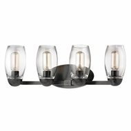 Hudson Valley 8844-OB Pamelia Old Bronze Finish 8.5  Tall 4-Light Bath Lighting