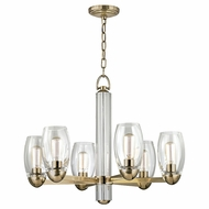 Hudson Valley 8846-AGB Pamelia Aged Brass Finish 20.5 Tall Lighting Chandelier