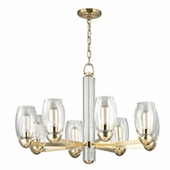 Hudson Valley 8848-AGB Pamelia Aged Brass Finish 20.5 Tall Chandelier Light