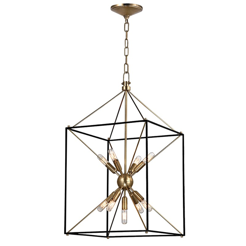 """Where Is Hudson Valley Lighting Made: Hudson Valley 8916-AGB Glendale Aged Brass Finish 30"""" Tall"""