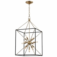 Hudson Valley 8920-AGB Glendale Aged Brass Finish 38.25  Tall Hanging Lamp
