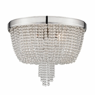 Hudson Valley 9008-PN Royalton Polished Nickel Flush Mount Lighting Fixture