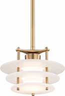 Hudson Valley 9012-AGB Gatsby Modern Aged Brass LED Mini Pendant Light