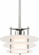 Hudson Valley 9012-PN Gatsby Contemporary Polished Nickel LED Mini Lighting Pendant