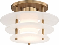 Hudson Valley 9012F-AGB Gatsby Contemporary Aged Brass LED Flush Mount Ceiling Light Fixture