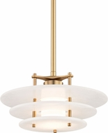 Hudson Valley 9016-AGB Gatsby Modern Aged Brass LED Pendant Lamp