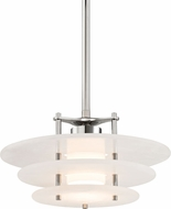 Hudson Valley 9016-PN Gatsby Contemporary Polished Nickel LED Hanging Lamp